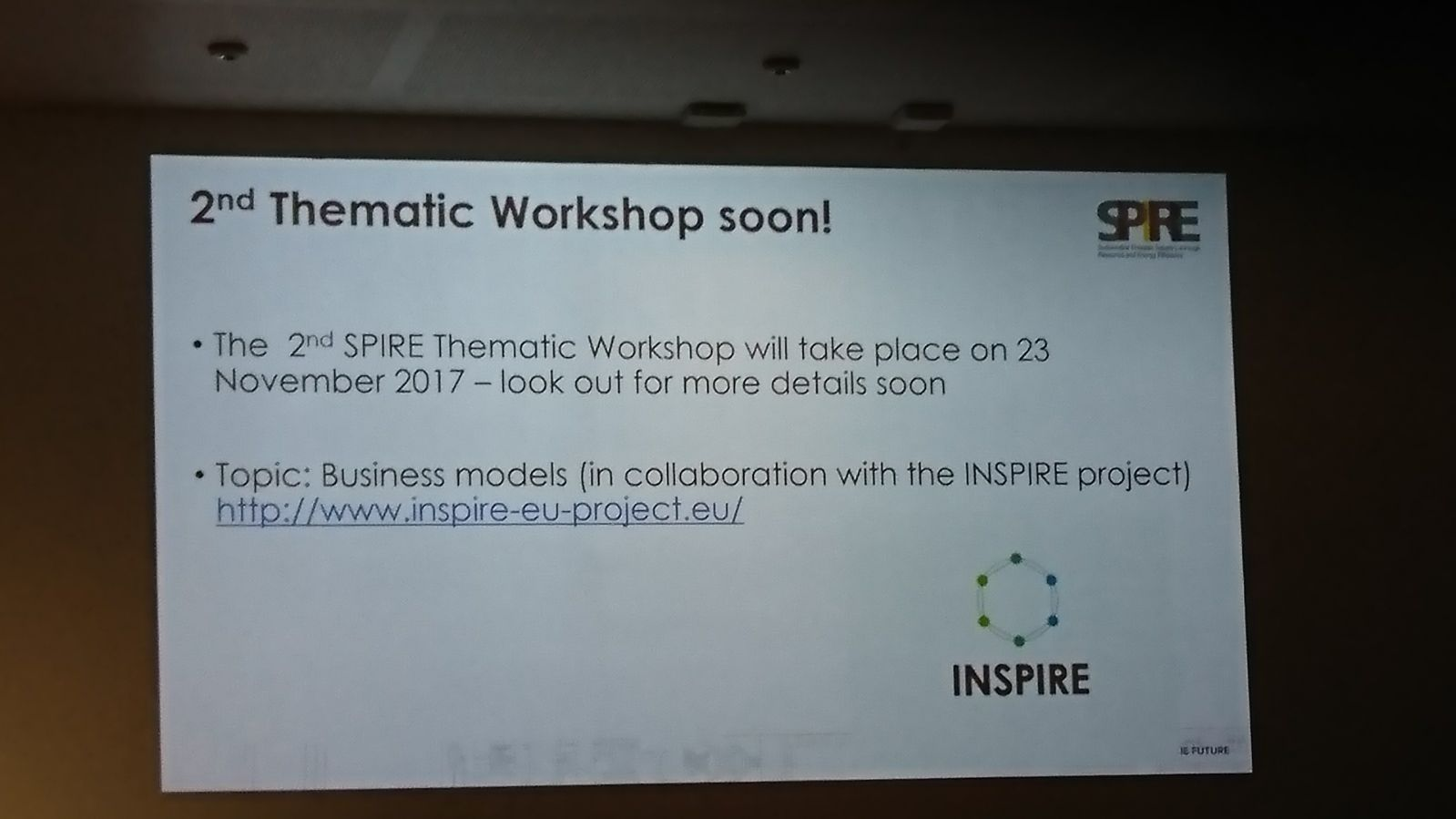 Second thematic INSPIRE workshop